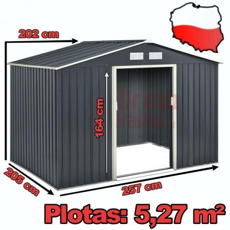 Surenkamas metalinis sandėliukas | XL dydis